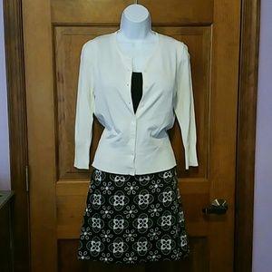 Ann Taylor Loft embroidered mini skirt.